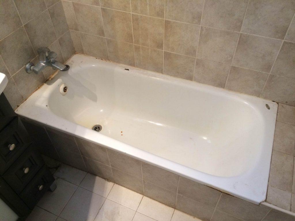 אמבטיה לפני ציפוי